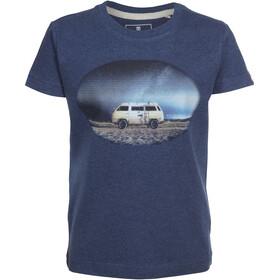 Elkline Racer Camiseta Manga Corta Niños, bluemelange